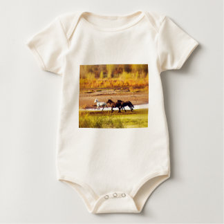 Running Horses Baby Bodysuit