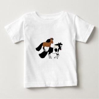 Running Horses Baby T-Shirt