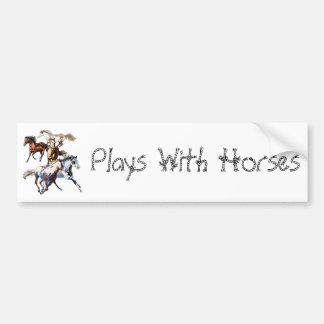 Running Horses Bumper Stickers