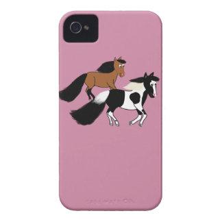 Running Horses iPhone 4 Case-Mate Cases