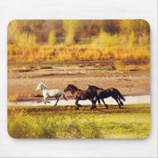 Running Horses Mouse Pad