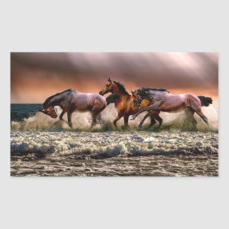 Running horses stickers