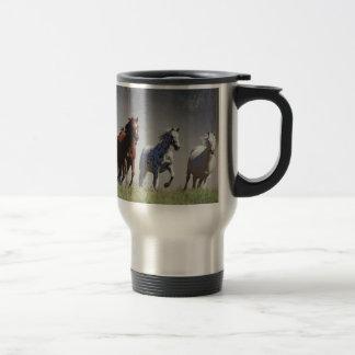 Running Horses Travel/Commuter Mug