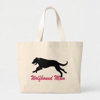 Running Irish Wolfhound Mom Large Tote Bag
