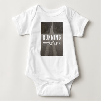 Running Is My Escape Baby Bodysuit