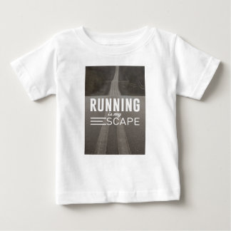 Running Is My Escape Baby T-Shirt