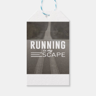 Running Is My Escape Gift Tags