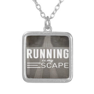 Running Is My Escape Silver Plated Necklace