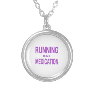 Running is my Medication Round Pendant Necklace
