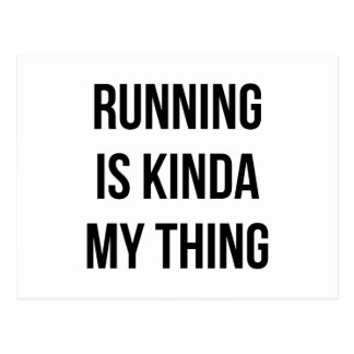 Running Is My Thing Postcard
