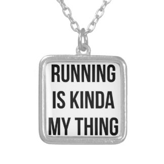Running Is My Thing Silver Plated Necklace