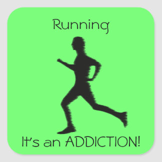 Running - It's an ADDICTION! sticker
