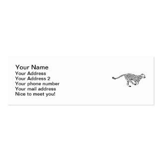 Running leopard business card