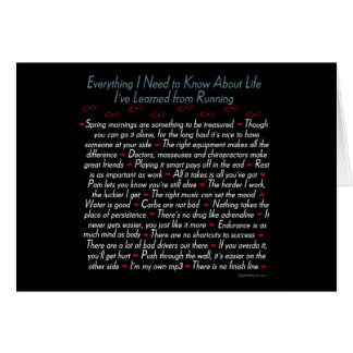 Running Life Lessons Cards