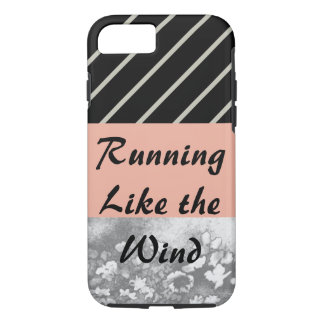Running Like Wind Apricot Grey Sporty CricketDiane iPhone 7 Case