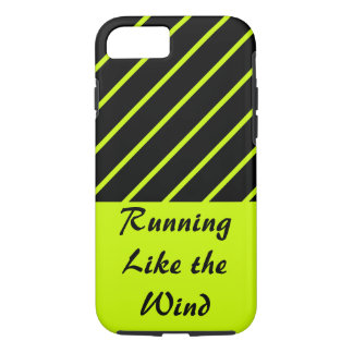 Running Like Wind Lime Black Sporty CricketDiane iPhone 7 Case