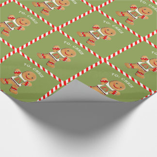 Running Man Christmas Wrapping Paper