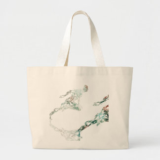 Running Man for Sports Business and Technology Large Tote Bag