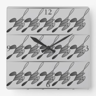 Running Man Square Clock