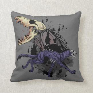 Running Monster Throw Pillow