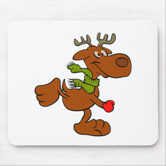 Running moose mouse pad
