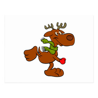 Running moose postcard