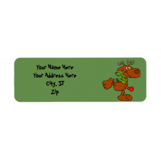 Running moose return address label