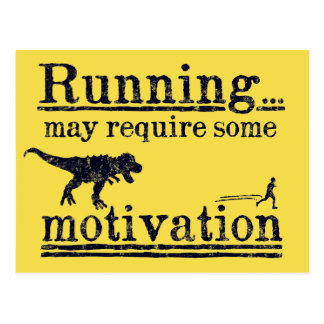 Running motivation funny postcard