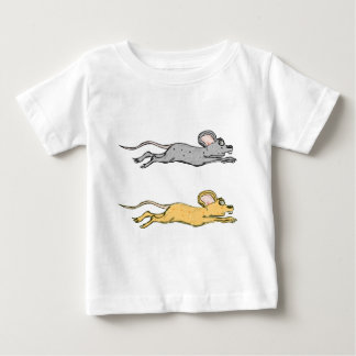 Running Mouse Vector Sketch Baby T-Shirt