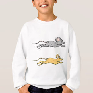 Running Mouse Vector Sketch Sweatshirt