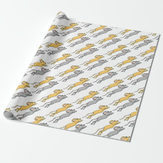 Running Mouse Vector Sketch Wrapping Paper