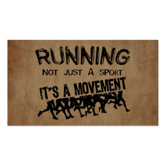 Running Movement Pack Of Standard Business Cards