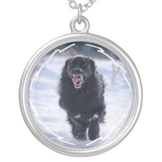 Running Newfoundland Dog Necklace