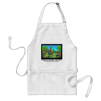 Running Of The Bull Frogs Funny Gifts/Collectibles Standard Apron