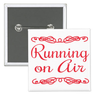 Running on Air 15 Cm Square Badge