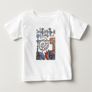 Running on Time-Whimsical Abstract Art Baby T-Shirt