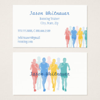 Running or Personal Trainer, Fitness Instructor Business Card