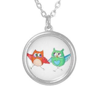 Running owls pendants