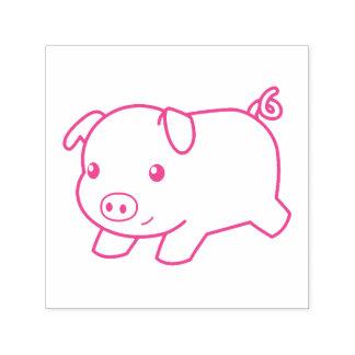 Running Piglet Pig Self-inking Stamp