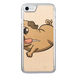 running pug cartoon carved iPhone 7 case