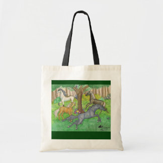 Running Racing Horses Galloping Trot Fantasy Magic Tote Bag