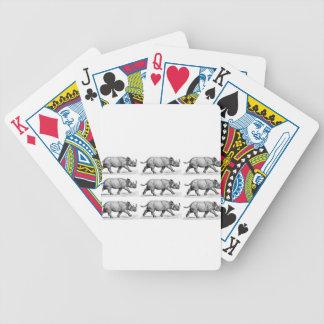 Running Rhinos art Bicycle Playing Cards