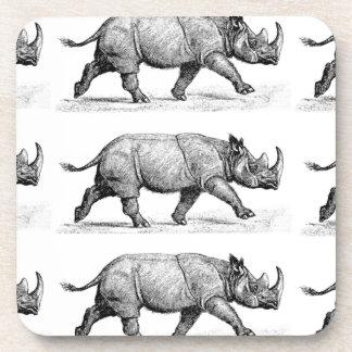 Running Rhinos art Coaster