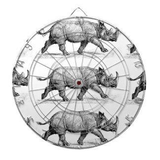 Running Rhinos art Dartboard