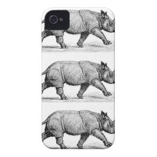 Running Rhinos art iPhone 4 Cover