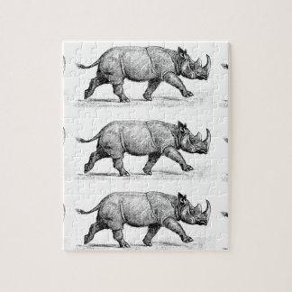 Running Rhinos art Jigsaw Puzzle