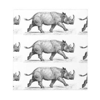Running Rhinos art Notepad