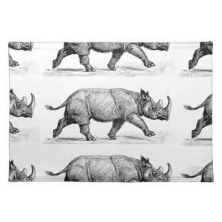 Running Rhinos art Placemat