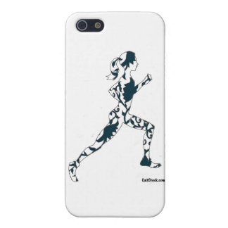 Running Silhouette - Floral Case For iPhone 5/5S