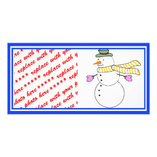 Running Snowman w/Scarf in the Wind Picture Card